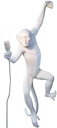 Kroonluchters, Monkey TafellampLamp Wandlamp Vloerlamp Zwart Hars Materiaal E27 Creatief Landelijk Retro Geschikt voor Slaapkamers, Studeerkamers, Bars, Winkels,-Wandlamp Wit