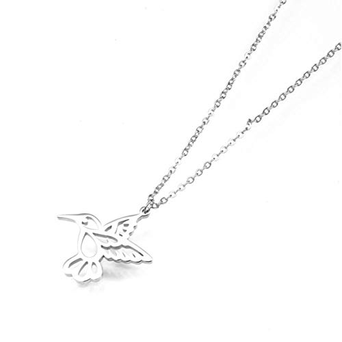 onedayday Dove Necklace Stainless Steel Delicate Pigeon Pendant For Women Bird Sparrow Necklace Jewelry Gifts@silver
