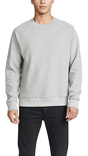 Theory Herren Otto Raglan Crewneck Sweatshirt Pullover, Ice Green, Klein