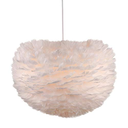Newrays Nordic Modern Feather Pendant Light Fixture Creative Personality Art Lamps for Bedroom...