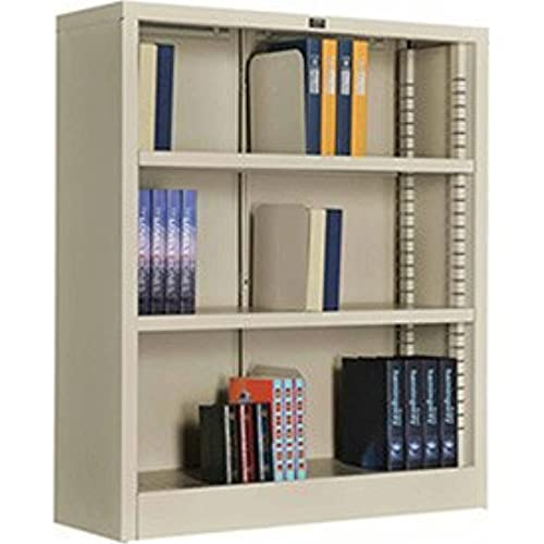 Amazon Com All Steel Bookcase 36 W X 12 D X 42 H Putty 3 Openings Furniture Decor