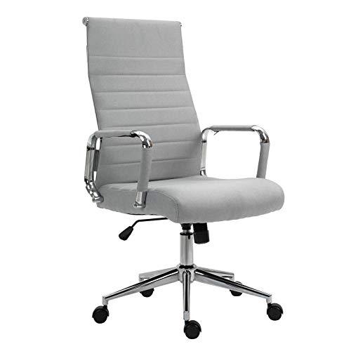 SVITA Elegance Comfort Bürostuhl Stoff hellgrau Schreibtischstuhl Drehstuhl