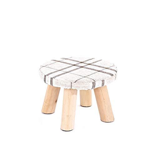 LJZslhei Kleiner Hocker Holz Haushalt Kleiner Stuhl Mode Hocker Kreative Kleine Bank