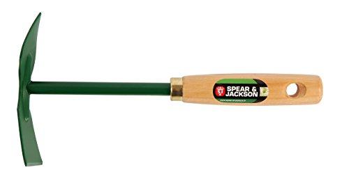 Spear & Jackson 50571 Serfouette à Fleurs Panne et Langue Manche Bois, Vert