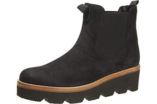 Gabor Damen Chelsea Boots 34.720, Frauen Stiefelette,Stiefel,Halbstiefel,Schlupfstiefel,gefüttert,Winterstiefeletten,Pazifik,38.5 EU / 5.5 UK