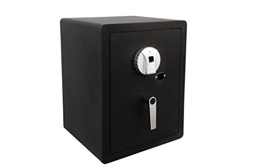 GOLVAL FS-50 Home Steel Security Safe Box, Biometric Fingerprint Quick-Access Safe, 1.58 Cubic Feet