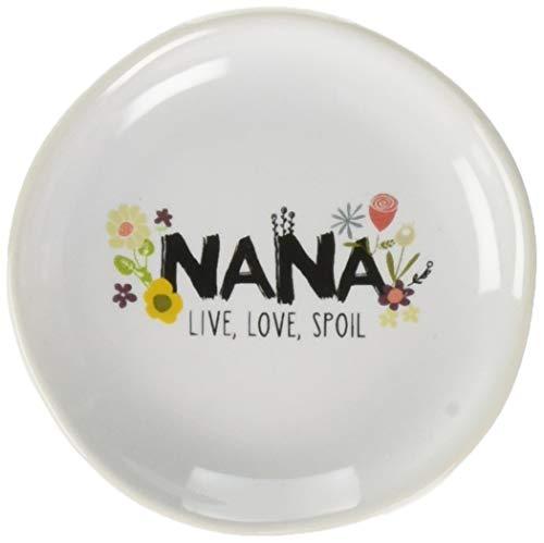 Love You More por Amylee semanas Nana Live Love estropear Mini Jewelry–Plato, Color Blanco
