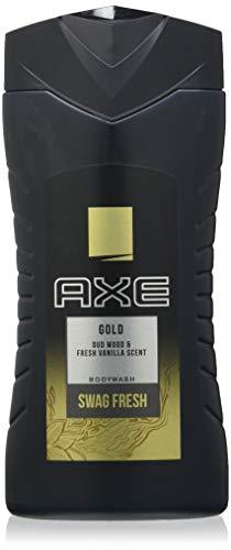 Axe Gel Douche Gold, Fraîcheur et Sensualité, Testé Dermatologiquement, 250 ml - Lot de 4