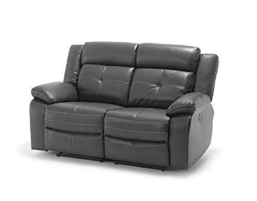 Langworth - Juego de sofá de 3 y 2 plazas, 3 plazas, 2 plazas, sillón, piel, aire (2 y 2 plazas)