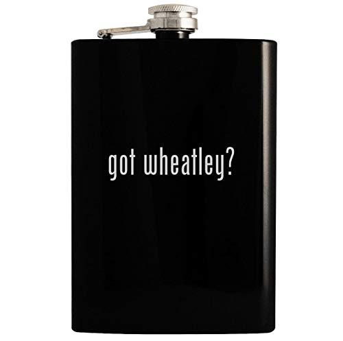 got wheatley? - Black 8oz Hip Drinking Alcohol Flask