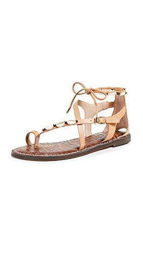 Sam Edelman Women's Garten Sandals, Natural, Tan, Off White, 8 Medium US