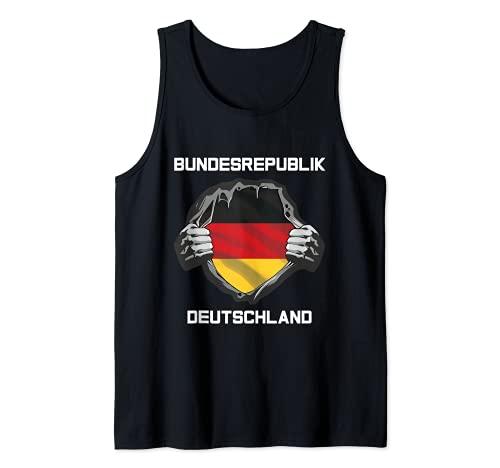 Deutsche Flagge Deutschland Fan Kleidung Fußball Trikot 2021 Tank Top