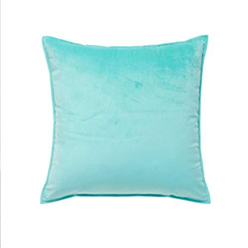 Almohada de color sólido para el hogar, sofá, almohada grande, accesorios para el coche, almohada lumbar, simple, azul, 40 x 40 cm