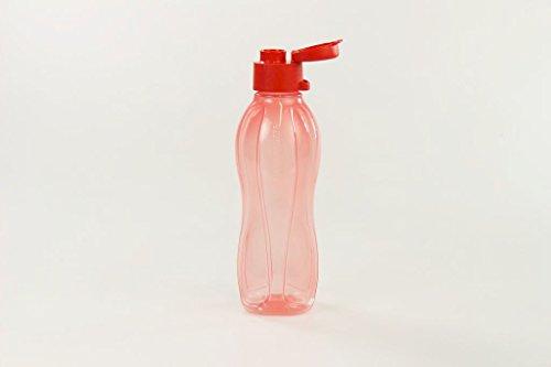 TUPPERWARE Ecobottiglia Click da 500 ml di colore salmone rosso