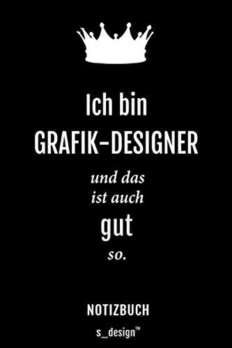 Notizbuch für Grafik-Designer: Originelle Geschenk-Idee [120 Seiten gepunktet Punkte-Raster blanko Papier]