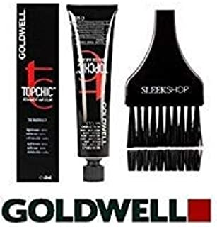Goldwell Topchic Permanent Hair Color, 2.1 oz tube (with Sleek Tint Color Brush) (8NN LIGHT BLONDE EXTRA)