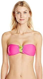 Women's Bandeau Bikini Top with Aztec Print