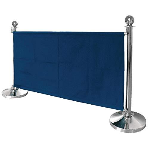 Bolero dl480 Postes Separadores - Barrera lienzo Bolero azul oscuro