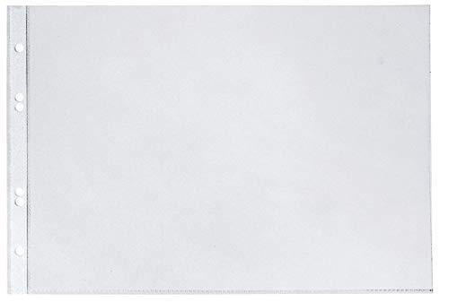 Veloflex 4340300 Prospekthüllen A4 quer, Klarsichthüllen, Klarsichtfolien, PP-Folie, Eurolochung, 10 Stück
