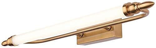 Carl Artbay Shuai mooie lamp/ * LED-badkamer vochtbestendige badkamer gouden spiegel kast licht kaptafel retro licht (grootte: 55cm)