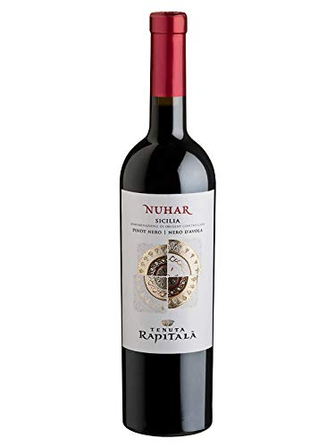 NUHAR Pinot Nero/Nero d'Avola Sicilia DOC - Tenuta Rapitalà - Vino rosso fermo 2017 - Bottiglia 750 ml