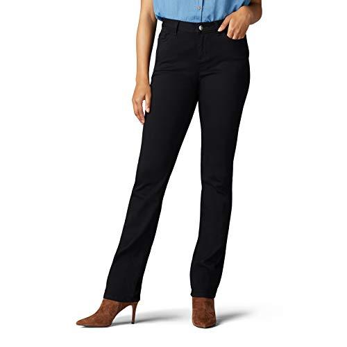 LEE Women's Legendary Regular Fit Straight Leg Jean, Black, 10