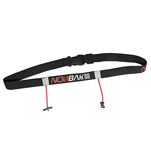 Nonbak portadorsal Race Belt Running Triatlon Trail Running competiciones Black, Neon Green,Orange, Pink, Red (Black Red)