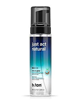 b.tan Self Tannwe Bronzing Tanning Water - Just Act Natural - Sunless Tanner Enriched With Coconut Water & Vitamin E 6.7 fl oz
