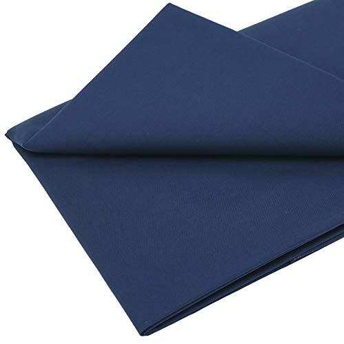 MasterFAB -Navy 100% Cotton Poplin Fabric by The Yard for Sewing DIY Crafting Voile(Navy Solid-1.1y1pcs)