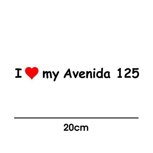 I Love My Tauris Avenida 125 20cm Aufkleber für Motorrad Bike Roller Mofa Sticker Decal Tuningaufkleber Tuning