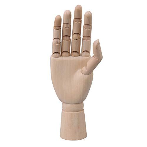 Artista de cuerpo de 8 pulgadas Maniquí articulado Maniquí de mano derecha de madera para dibujo de arte
