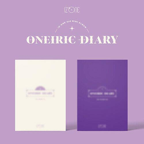 IZ*ONE IZONE [ONEIRIC DIARY] 3rd Mini Album DIARY VER. CD + GEFALTETES POSTER + GEFALTETES POSTER + Fotobuch + 4p-Karte + Aufkleber + TRACKING NUMVER K-POP SEALED