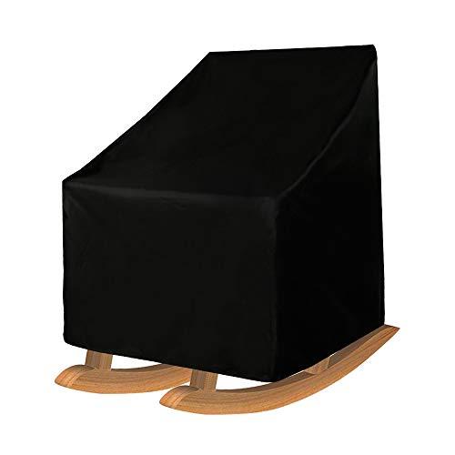 Maalr Funda para silla mecedora de terraza, impermeable, tej