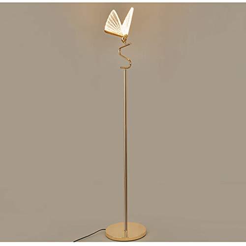 Lampa podłogowa Lampa podłogowa Nowoczesna lampa podłogowa LED Creative Butterfly Stand Light salon Sypialnia Dekoracja Home Dekoracja Wnętrze Atmosfera (rozmiar: 59.05x10.23 cale) Stojące światło pod