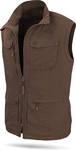 normani Herren Outdoor Weste mit atmungsaktivem Sonnenschutzmaterial 50+ (XS-5XL) Farbe Braun Größe M