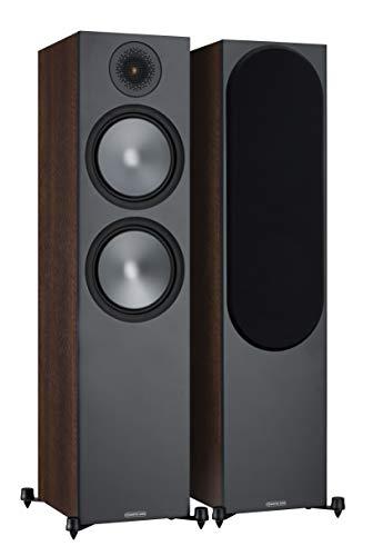 Monitor Audio Bronze 500 - Altoparlanti da pavimento in noce (coppia)