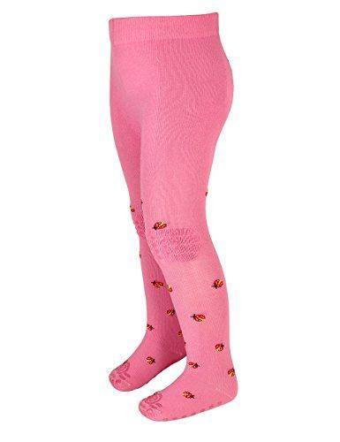maximo Baby-Mädchen Marienkäfer Strumpfhose, Rosa (Pink Rose/Rot 6402), 86 (Herstellergröße: 68/74)