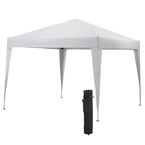 BIGTREE 10x10' ft Outdoor Portable Foldable Shelter Gazebo Canopy Tent Roof Cover Sun Shade w/Carry Case - White
