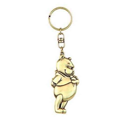 Disney Pooh Brass Pewter Key Ring Multicolor, 1'