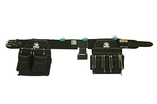 Gatorback Professional Electrician's Tool Belt Combo w/Padded Comfort Belt (Medium 31-34 Inch Waist). Ventilated Comfort Belt with Heavy Duty Pouches for Electricians, Carpenters, Hvac, Drywaller.