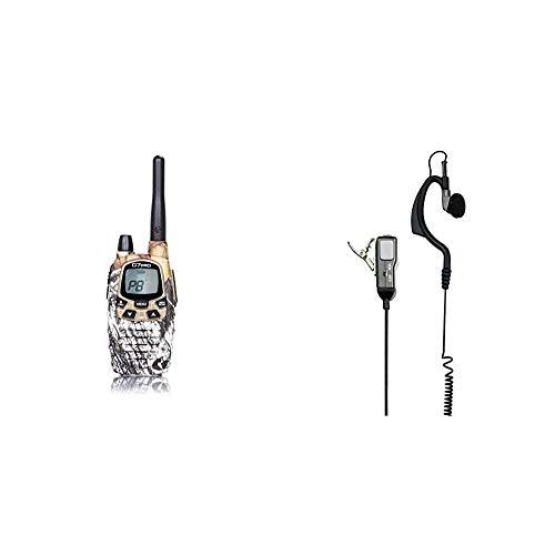 Midland G7 Pro Radio Ricetrasmittente Walkie Talkie Dual Band 8 Canali & MA21-L Microfono con Mono Auricolare Regolabile