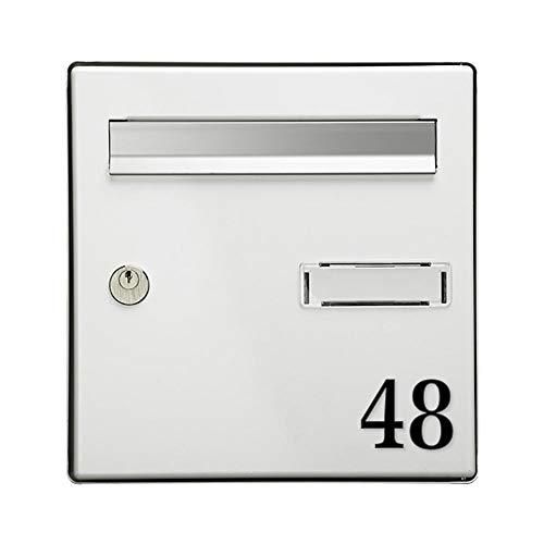 Chiffre adhésif 5 cm pour boite aux lettres - Noir - Chiffre 4