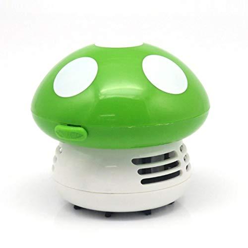 ACEHE Mini Aspiradora, Mini Aspiradora 6 Colores Lindo Mini Seta Esquina Mesa de Escritorio Aspiradora de Polvo para el hogar Ordenador Barredora (Verde)