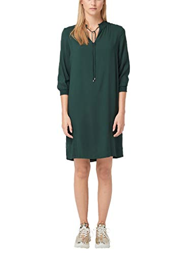 s.Oliver RED Label Damen Tunikakleid mit Smok-Details Green 40