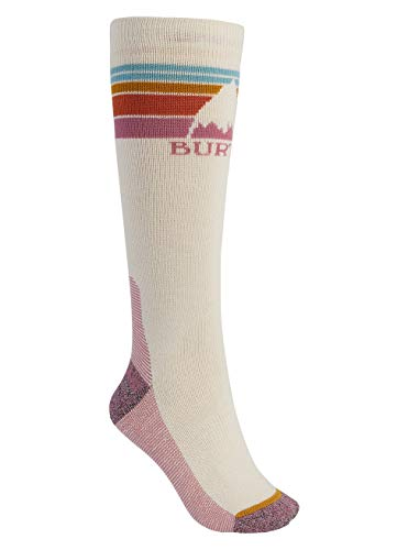 Burton Damen Emblem Midweight Snowboard Socken, Creme Brulee, SM