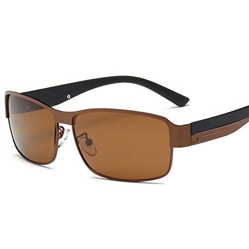 Sunglasses Moda Uomo Occhiali da Sole Polarizzati Designer di Marca Quadrato Uomo Guida Pesca Occhiali da Sole Sport Donna Occhiali da Sole Uv400 caffè