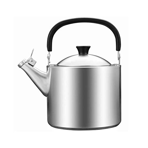 JXLBB Épaisseur de la bouilloire en acier inoxydable 304 3,5 litres Whistle Gas Induction Cooker Bouilloire domestique Sécurité durable Une pièce en bonne santé Composite à trois couches Fond inférieu