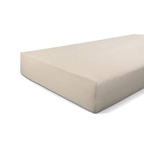 Walra Spannbettuch Jersey Stretch, 100% Baumwolle, 180x220, Sand