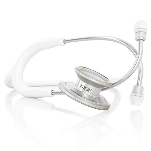 MDF® MD One® Premium Estetoscopio doble cabeza de acero inoxidable - Garantía de por vida & Programa-piezas-gratuitas-de-por-vida - Blanco (MDF777-29)