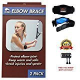 [2 Pack] AVIMA Best Quality Elbow Brace with Compression Pad for Men & Women - Tendonitis Relief – Tennis, Crossfit & Golfers Elbow Pain Relief – Great Support for All Sports & Workouts. (1 Pack)